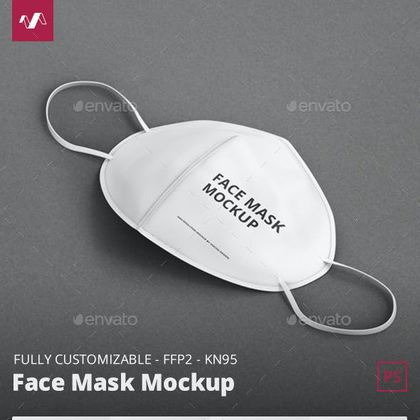 Face Mask Mockup - FFP2 KN95