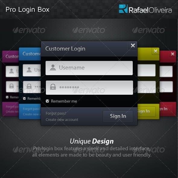Pro Login Box