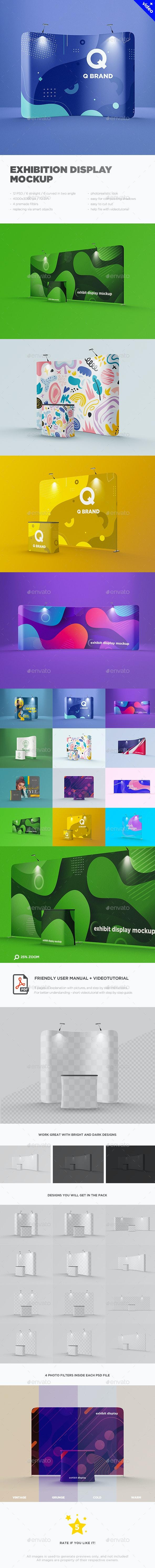 Exhibition Display Mockup - Miscellaneous Print