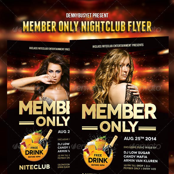 Member Only Nightclub Flyer Template