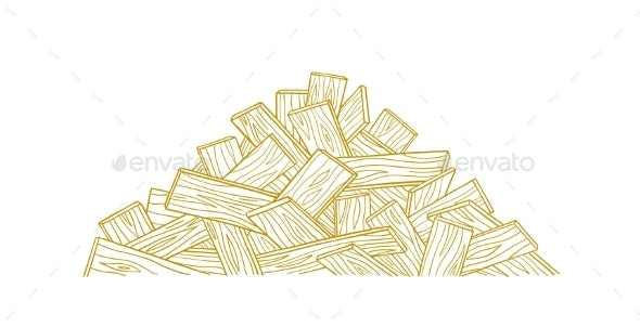 Pile of Wooden Boards - Industries Business