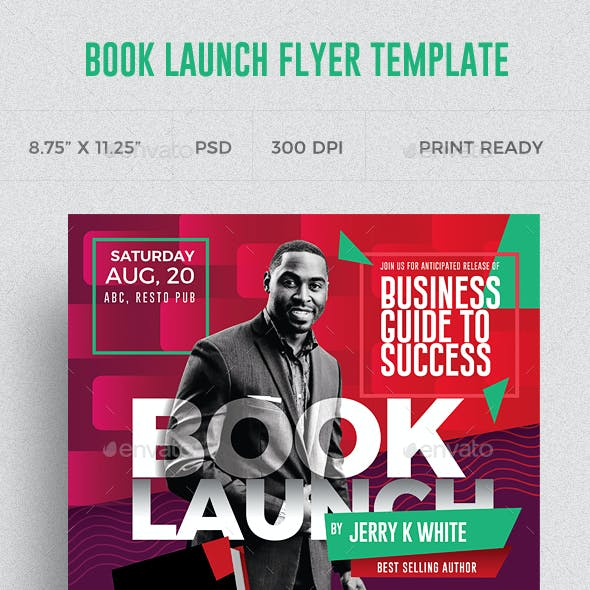 Book Launch Flyer Templates