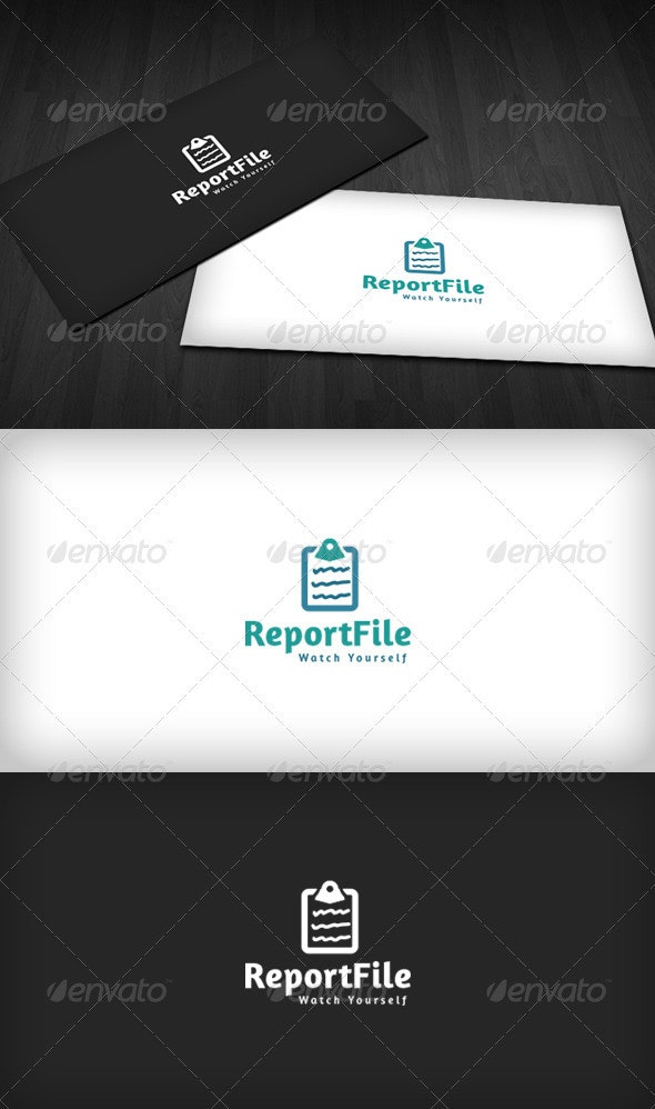 Report File Logo - Objects Logo Templates