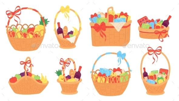 Gift Basket - Miscellaneous Vectors