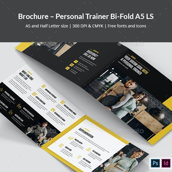 Brochure – Personal Trainer Bi-Fold A5 Landscape