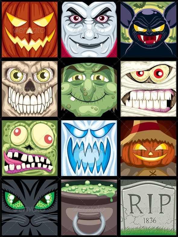 Halloween Avatars  - Characters Vectors