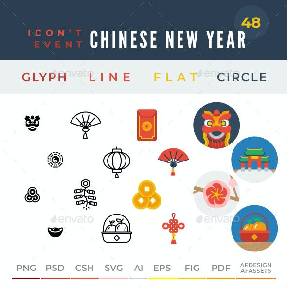 Icon't Event - 48 Chinese New Year Icons