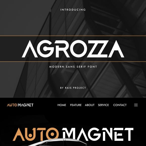 AGROZZA sans serif Font