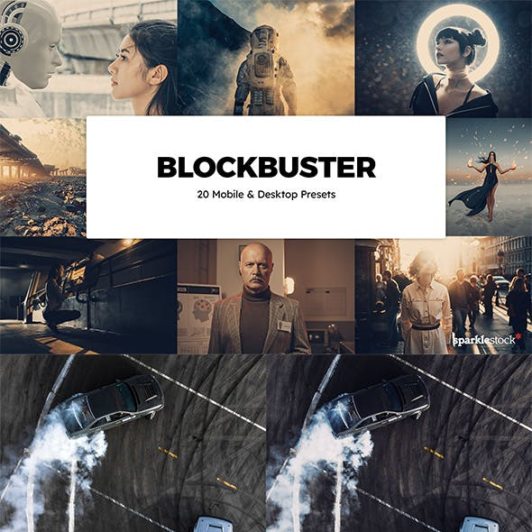 20 Blockbuster Lightroom Presets & LUTs