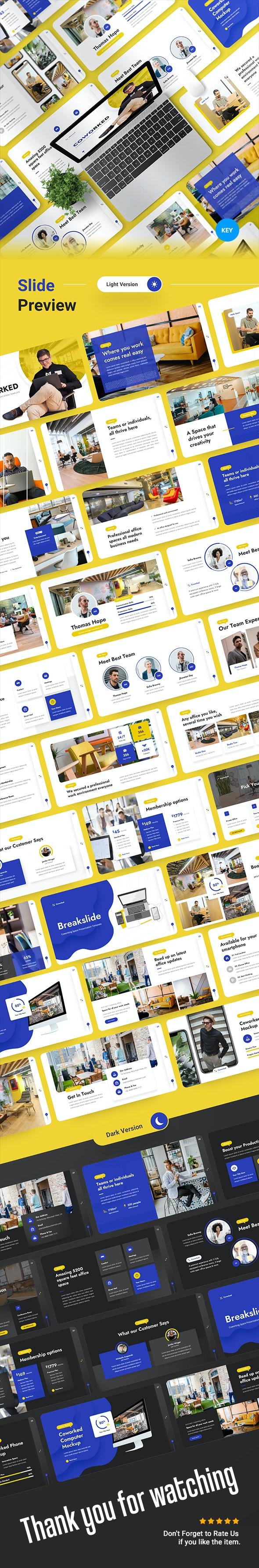 Coworked - Coworking Space Keynote Presentation Template - Business Keynote Templates