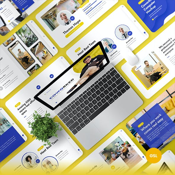 Coworked - Coworking Space Google Slides Presentation Template