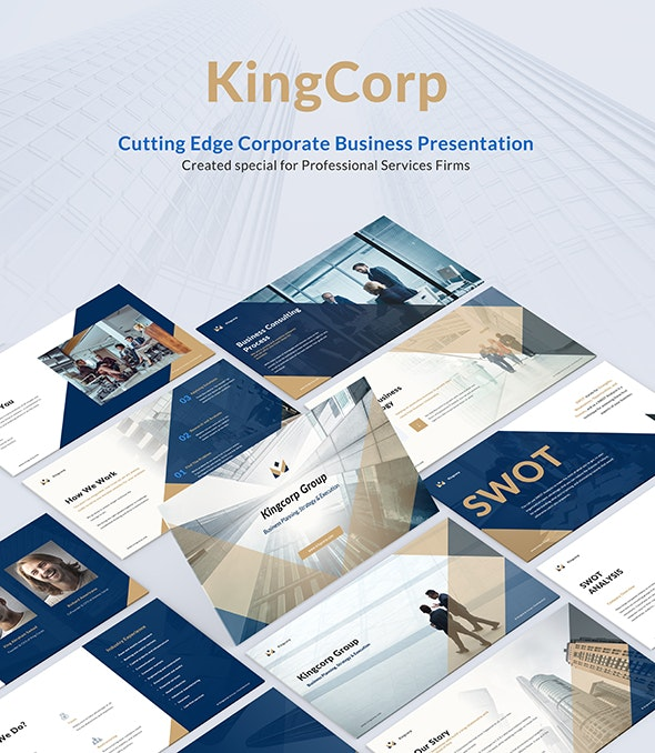 Kingcorp Business Consulting - Cutting Edge Corporate Business Presentation - Business PowerPoint Templates