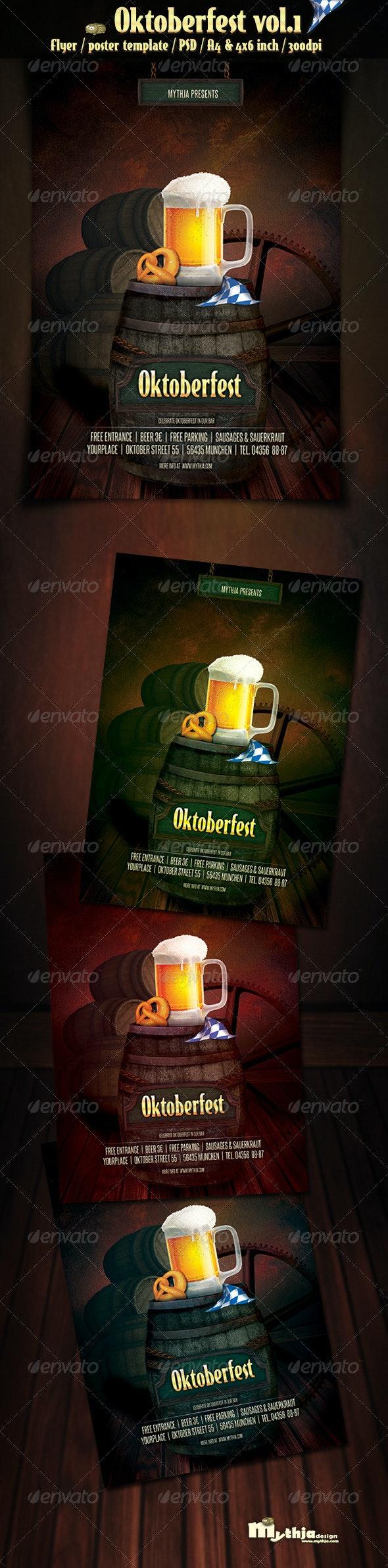 Oktoberfest Vol.1 - Party Flyer/Poster - Clubs & Parties Events