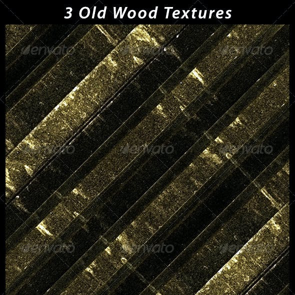 3 Old Wood Textures
