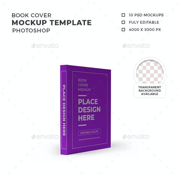 Book Cover Mockup Template Set