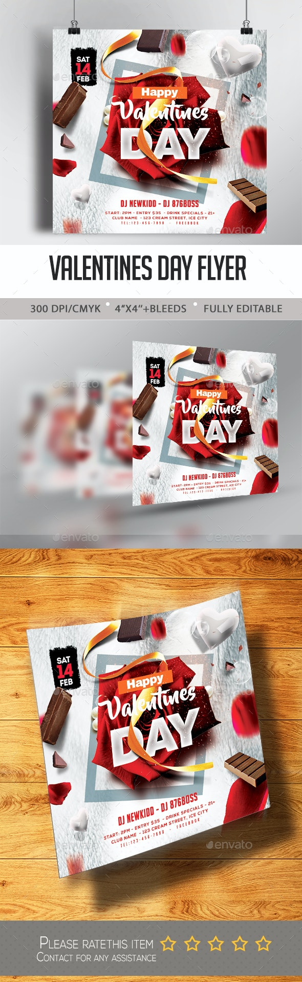 Valentine Day Flyer - Events Flyers