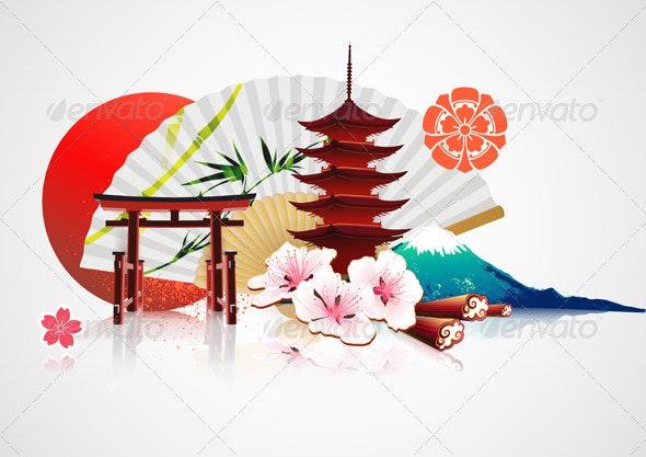 Japanese background - Backgrounds Decorative