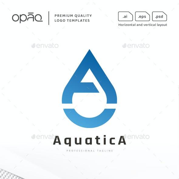 A Letter Water Drop Logo