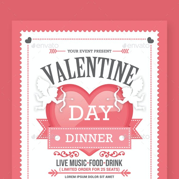 Valentine's Day Dinner Flyers