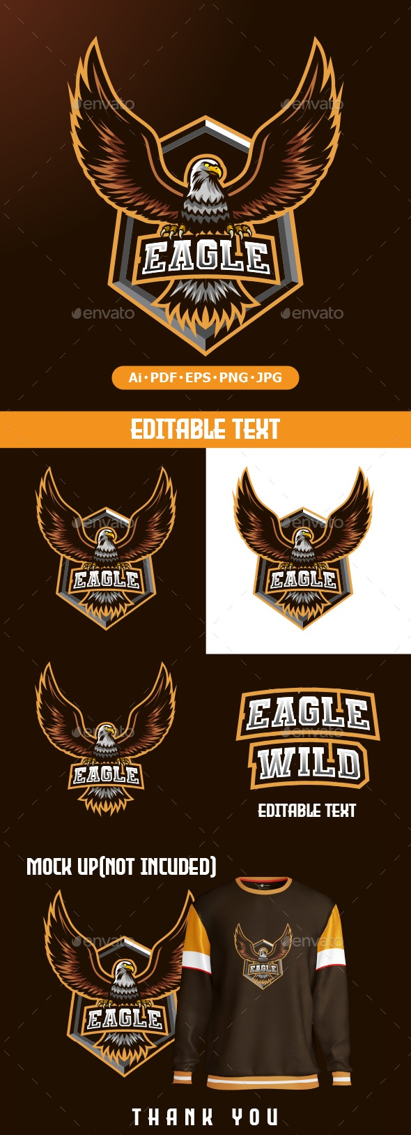 Eagle logo mascot for eSport - Animals Logo Templates