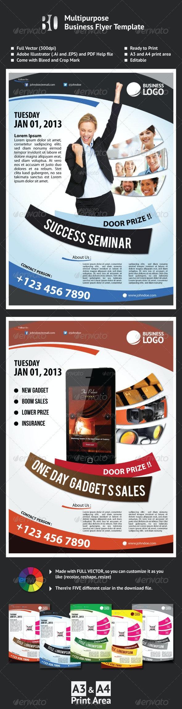 Multipurpose Business Flyer Template - Corporate Flyers