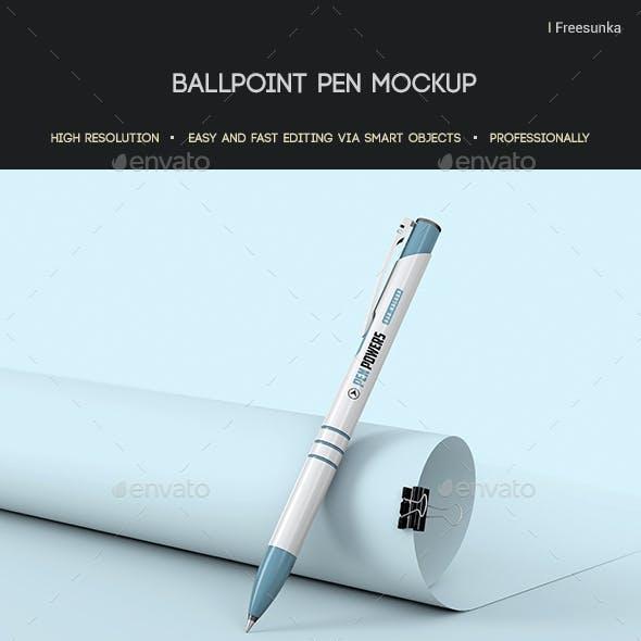 Ballpoint Pen Mockup