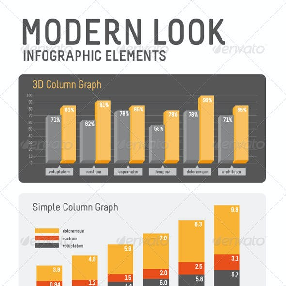 Modern look Infographic Elements