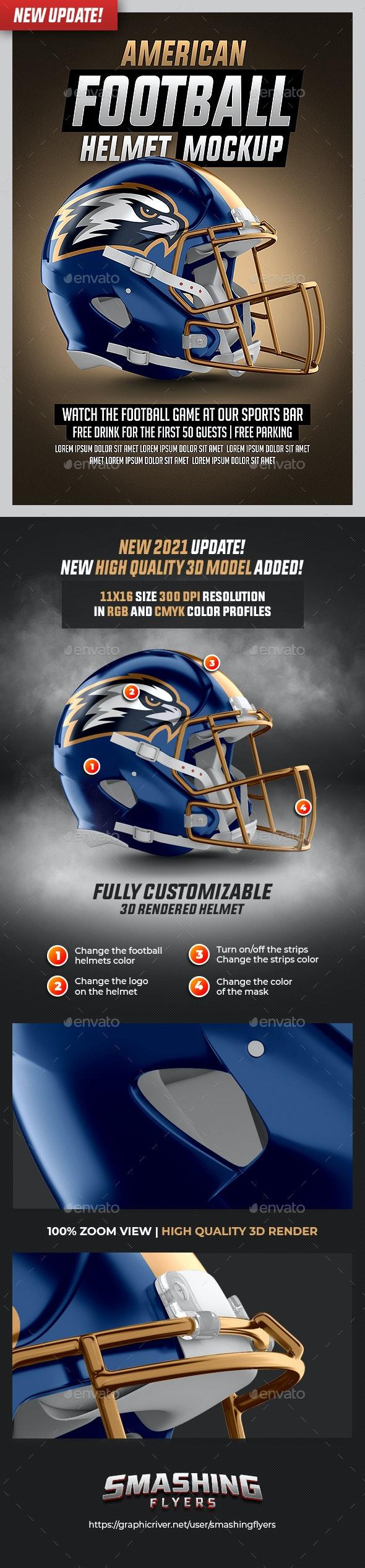 Football Helmet Mockup - Sports Events