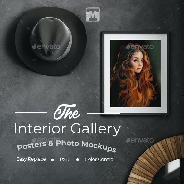 The Interior Gallery-Posters & Photo Mockups