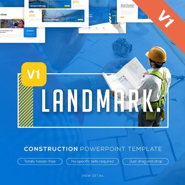 Landmark Construction PowerPoint Template