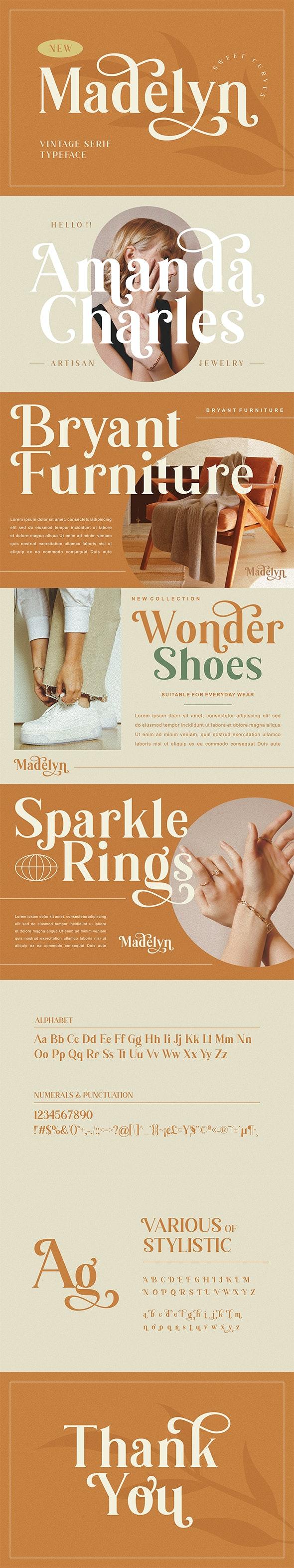Madelyn Vintage Serif Font - Serif Fonts
