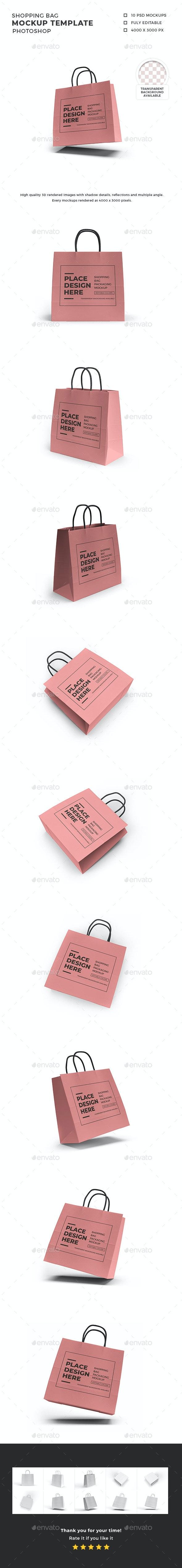 Shopping Bag Mockup Template Set - Packaging Product Mock-Ups