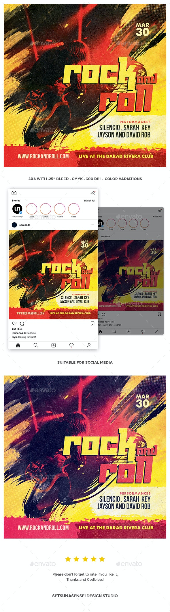 Rock and Roll Flyer - Concerts Events
