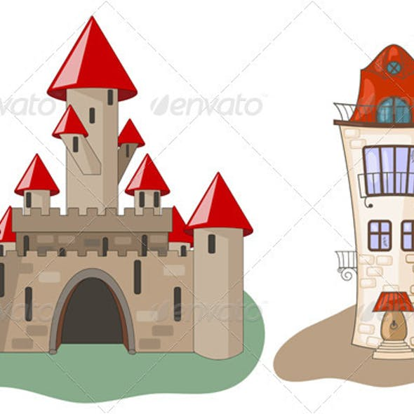 Medieval Castle and House