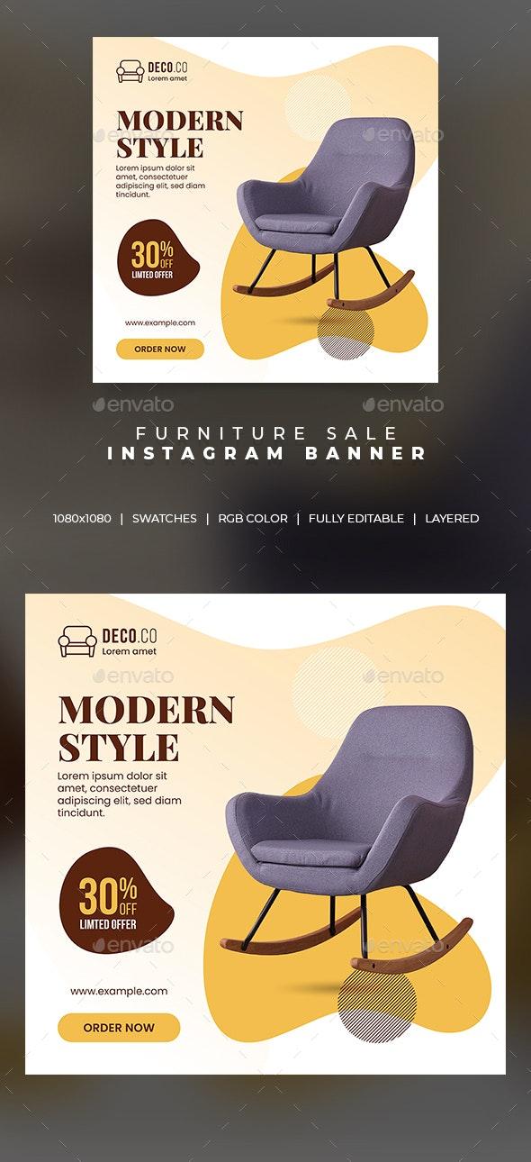 Furniture Sale Instagram Banner - Social Media Web Elements
