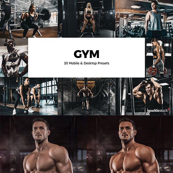 20 Gym Lightroom Presets & LUTs