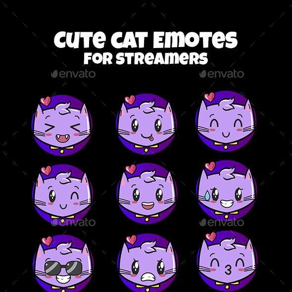 Cat Twitch Emotes Chibi Emotes