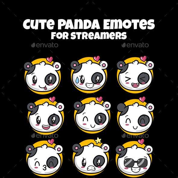 Panda Emotes for Streamers | Twitch Emotes