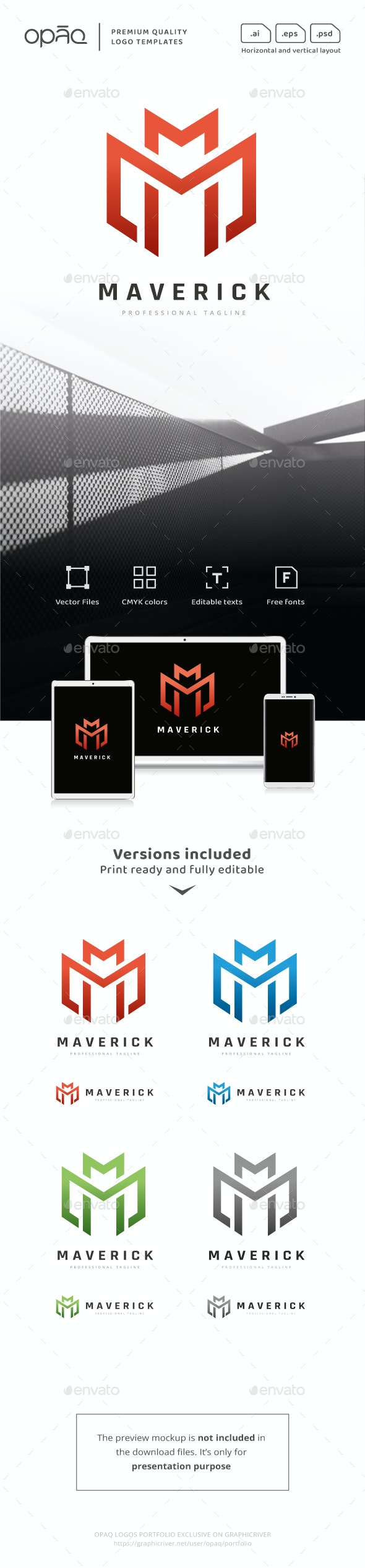 Abstract M Letter Logo - Letters Logo Templates