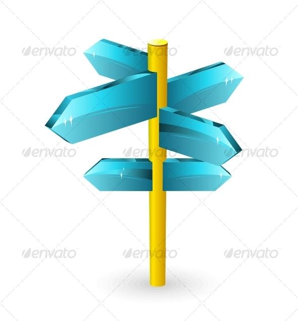 Arrow road sigs - Decorative Symbols Decorative
