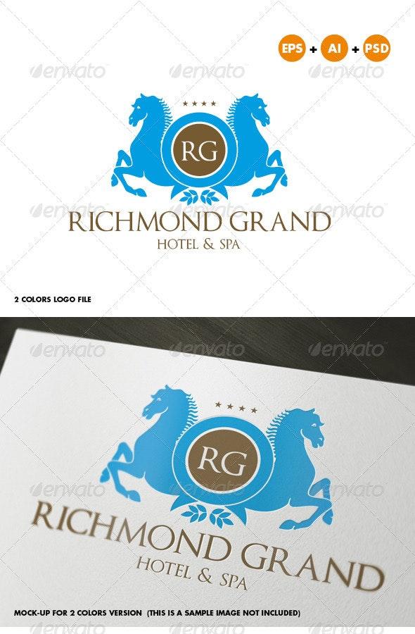 Hotel & Resort or Fashion Crest Logo Template - Crests Logo Templates