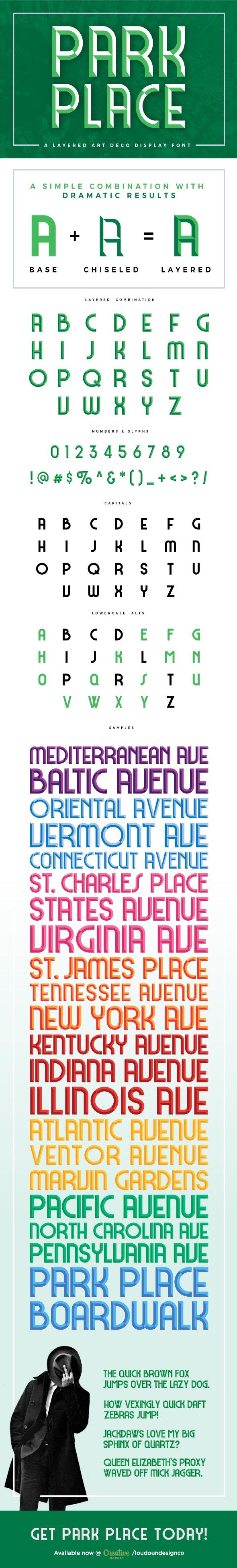 Park Place - Fancy Fonts