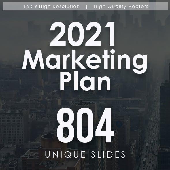 2021 Marketing Plan Powerpoint Templates Bundle
