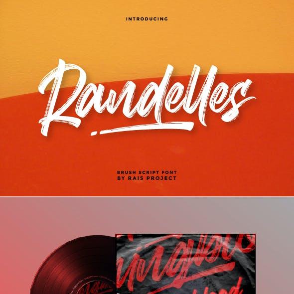 Randelles Brush Font