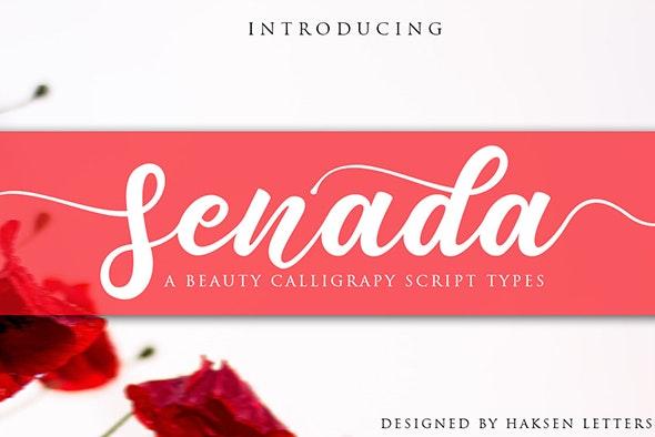 Senada Beauty Script Handwritten - Miscellaneous Script