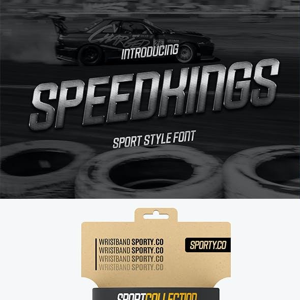 Speedkings - Futuristic Display Font