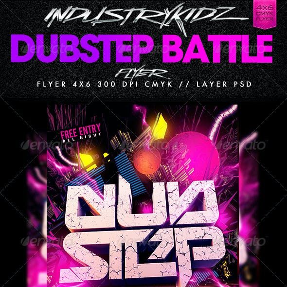 Dubstep Dj Battle Flyer Template
