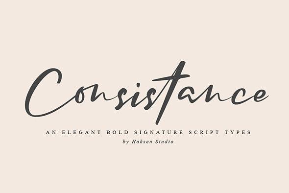 Consistance Bold Signature Script - Cursive Script