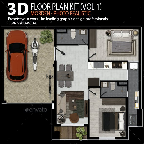 3d Floor Plan Graphics Designs Templates From Graphicriver