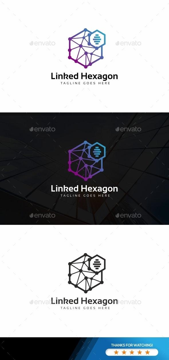 Linked Hexagon Logo - Abstract Logo Templates
